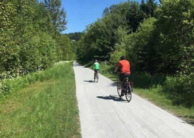 rechargement de la piste cyclable