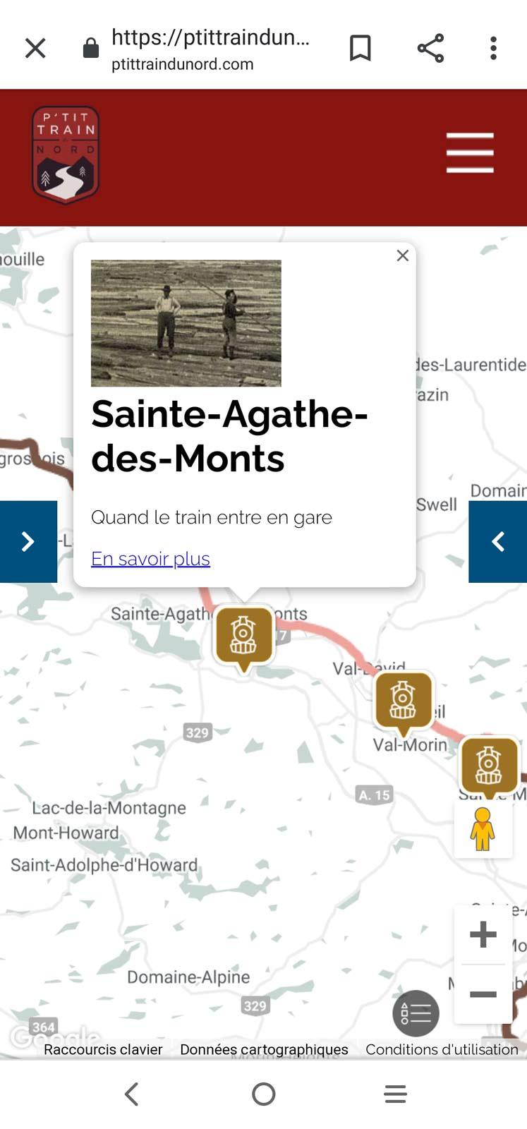 """Carte P""""tit Train du Nord Histoire"""