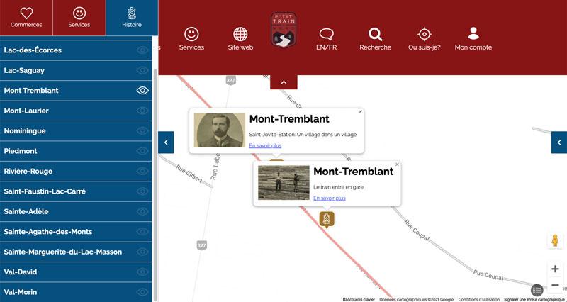 Carte virtuelle historique