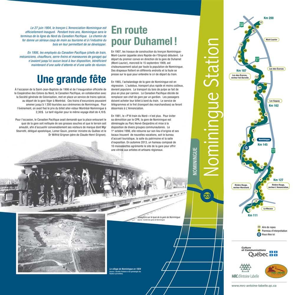 Histoire P'tit train du Nord